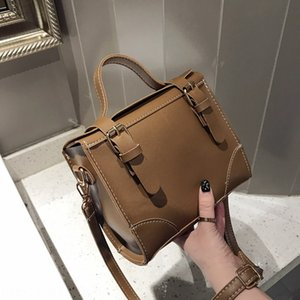 SGuNn female shoulder Bag belt backpack 2019 new fashion all-match double belt buckle shoulder bag Korean casual portable Messenger backpac