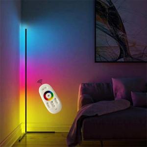 Modern Köşe Ayaklı Lambalar Zemin Işıklar İç Atmosfer Lambası Renkli Yatak Odası Salon Dekorasyon Aydınlatma Daimi Lambası