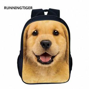 RUNNINGTIGER ранцы Животные Printed 16-дюймовый рюкзак для девочек Для мальчиков Мода Дети Путешествия Сумка девушки мешок школы i1jI #