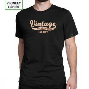 1989 T-Shirt Birthday Gift Vintage Est 29th Birthday Present Man's T Shirt 100% Cotton Short Sleeves Tees Printed Clothes