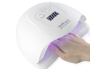54W / 80W ВС X5 Plus Сушилки для ногтей ЖК-дисплей 36 LED Сушилки для ногтей Лампы УФ светодиодные лампы для отверждения геля польского автоопределения