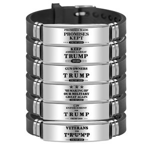 Trump Wristband 2020 Keep America Great Stainless Steel Bracelets Fashion Personality Adjustable Bracelet Trump Watch Bracelets YYA289