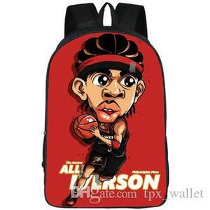 Quick рюкзак Аллен Айверсон рюкзак Прохладные улиц школьного Хип-хоп картина печать рюкзак Спортивной школы сумка Открытого день пакет