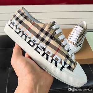 New men's and women's sports shoes  designer shoes canvas checkered lace-up low-top fashion casual round head flat couple sh
