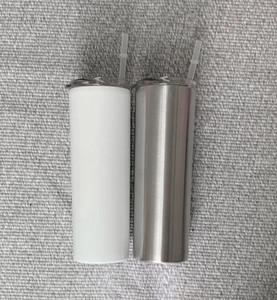 DIY toptan 20 oz Sublime Skinny Tumbler Paslanmaz Çelik Kahve Kupa İzoleli Bira Kupası Blank Şarap Tumbler Çift Duvar Su Şişesi A10