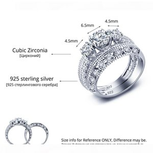 O 925 Sterling Silver Ring Ring Korean Lady Zircon Lovers Valentine Gift Jewelry Diamond Ring High -End Simulation