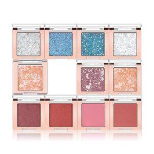 10 Colors Waterproof Polarized Pearlescent Shiny Long Lasting Sweat-proof Eyeshadow Tray Monochrome Eyeshadow Palette TSLM1