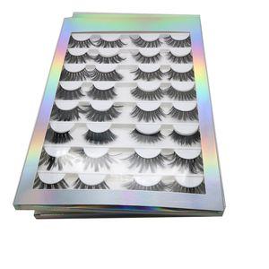 UPS는! L 속눈썹은 예약 16쌍 100 % 수제 10-25mm 차원 5D lailk 속눈썹 가짜 밍크 eyelashNatural 개인 상표 긴 전체 스트립 속눈썹