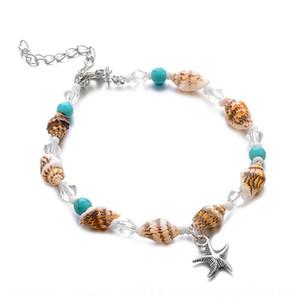 Nouvelle conque pierre pin plage Starfish chaîne ornements de bijoux à la mode de pied chaîne Accessoire pied