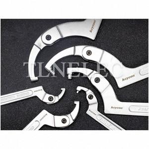 1шт Регулируемая головка Crescent ключ квадратная голова и круглый Гаечный Мульти - Функция Hook Type WRENCH gnlv #