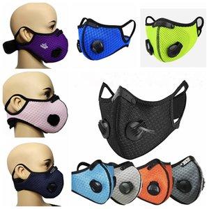 Велоспорт спортивной тренировки маска РМ2,5 Анти-загрязнение Running маски Фильтр из активированного угля моющейся ветрозащитный пыле Рот Обложка LJJP189