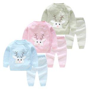 Mioigee 2pcs Baby Boy Set lã de malha de algodão camisola Meninas Meninos Define infantil quentes terninho conjuntos recém-nascidos Roupa criança