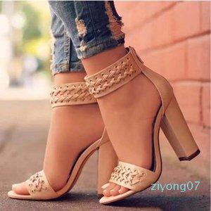 новые ботинки женщин сандалии Лучшие качества Высокие каблуки сандалии Тапочки Huaraches Вьетнамки Мокасины башмак для тапочек shoe10 20 Z07
