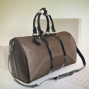 الجملة 55 حقائب 50 45 CM المرأة حقيبة السفر أزياء الرجال الكلاسيكية القماش الخشن مع حزام الكتف حقيبة الأمتعة N41414 N41413 M40605 BANDOULIERE