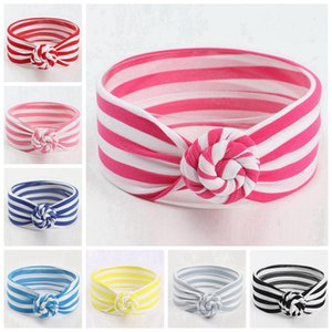 8 Colors Cute Baby Striped Knot Headband Girls Headwraps Turban Headbands Infant Bandanas Hairband Phtography Props Party Favor RRA3089