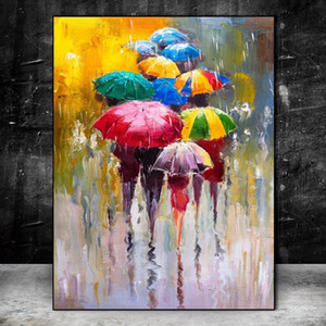 Nordic Art Girl Holding An Umbrella Poster Prints Abstract Watercolor Canvas Paintings Modern Wall Art Pictures Living Room Home Decoration