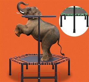Trampolin Einstellbarer Griff Mini Indoor Trampolin 48Inches Silent-Bungee Trampolin Jumping Cardio Trainer Kinder / Erwachsene Fitness HC-MT018C