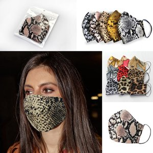 Leopard Print Mask Designer Face Mask Washable Dust Respirator Riding Cycling Men Women Outdoor Sports Fashion Party Mouth Facial Mask