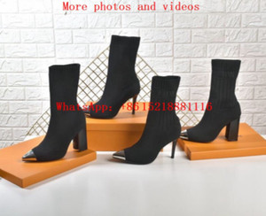 TOP genuine leather martin booties boot boots designer shoes High heels increased red bottoms Martin boots