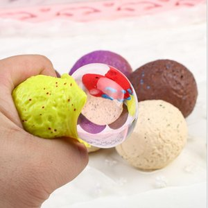 Relieve Stress Dinosaur Egg Pure Color Squeeze Stresses Reliever Toy Funny Gadgets Kids Toys Holiday Party Gift WY508