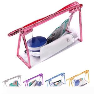 Clear Makeup Bag Transparent Plastic PVC Cosmetic Make Up Toiletry Bag Storage Zipper Pouch Beauty WB2034