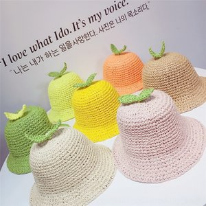 ins sun of the straw same style 2020 new children's handmade straw hat cute grass sun hat for boys and girls
