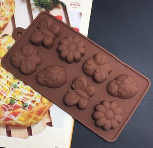 DHL Chocolate Molds Silicone Candy cake baking Mold for Jelly Hard Candy, Soap, Resin, Flower and Butterfly nx