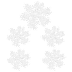 30PCS White Christmas Snowflake Forma Hanging árvore de Natal 11CM Ornamento da janela Decoração XMAS Acessórios
