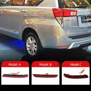 2PCS LED Reflector For Toyota Innova 2015 2016 2017 Car Tail Light Rear Fog Lamp Bumper Light Brake Light