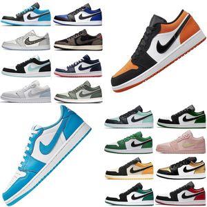 2020 topretrò NakeskinGiordaniaAJ1 Aj 1 qualità dell'aria 1 basse Sneakers uomini donne volano scarpe da basket Chaussures Shatte