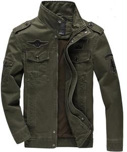 새로운 칼라 커튼 남자의 봄 대형 크기 견장 군사 유니폼 남성 자켓 공군은 한 재킷은 PARKA 재킷 코트 겉옷을 TOPS