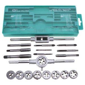 Herramientas de mano 20pcs alta calidad Tap Die Set rosca métrica Tap Dies Llave de combinación matriz de ajuste del sistema de herramienta