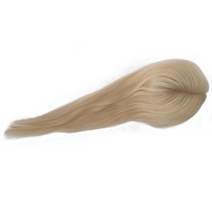 Human Hair 14*16 Hair Silk base Toupee Hair Extensions Natural Color, Brown Color, 3pcs one Lot, free shipping