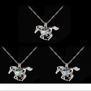 hot sale luminous pony running horse pendant light in dark animal necklace sweater chain necklaces