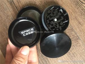 """2 """"/2.5"""" SPACE CASO 4 pezzi di alluminio smerigliatrice Media Grande rilevatore di fumo di sigaretta smerigliatrice smerigliatrice tabacco titanio VS Sharpstone"""