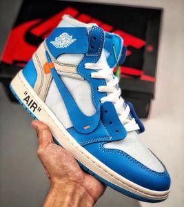 Nike Air Jordan 1 brancos Shoes alta OG Basketball Chaussures Pas Cher off Real Banido Bred Noir Blanc Rétro Toe Hommes Femmes presto V2 Des