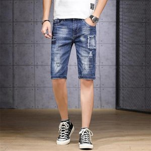 2020 Hip Hop Sweatpants Skinny Motorcycle Denim shorts Pants Zipper Designer shorts Jeans Casual fog givency patches ripped jeans