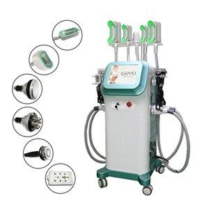 New Design 5 silicon cryo handle Cryolipolysis+Cavitation+RF+ lipolaser Multifunction fat freezing slimming Machine