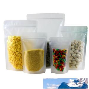 Buzlu temizleyin Plastik Kilit Çanta Yukarı Kılıfı Açılıp kapanabilir Doypack Fermuar Gıda Kahve Depolama Bag Packaging Standı Paketleme Zip