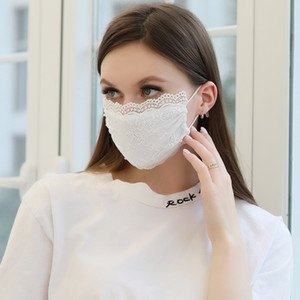 Masks Of Face Summer Design Lace Fashion Mask Travel Respirator Spring Lady Mascherine Pure Colors Wrqwc Outdoor Mouth Protection Fsxbx