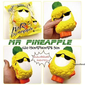 New Squishy Toy Lauging Pineapple Sunglasses Decompression Jumbo Scented Simulation Squishies Decoration Kids Toy Squeeze Gift Relief toy