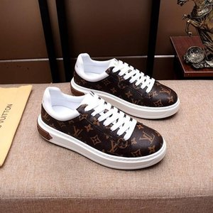 2020d luxury design mens fashion leather printed sports shoes all-match breathable mens casual shoes mens banquet shoes Size: 38-45