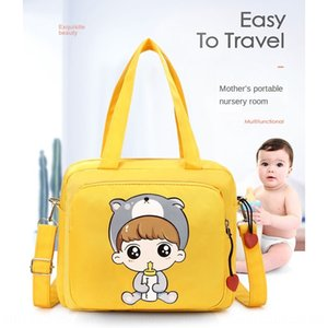 7afwb Cartoon mommy 2020 shoulder crossbody maternal Diaper Milk milk bottle and infant mom out portable baby bottle diaper bag car hanging
