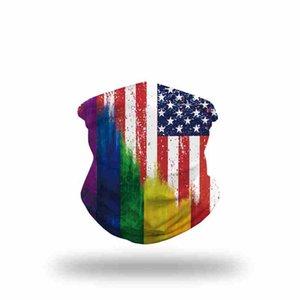 8 Стили Бандана маска для лица Маски 3D Флаг США Магия шарфы Спорт на открытом воздухе оголовье тюрбан платке Велоспорт лица CYZ2551 50Pcs
