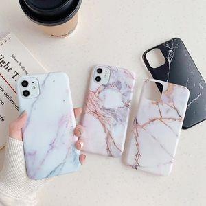 Caso de mármol helada mate TPU del IMD para Iphone 11 Pro XR X 8 7 6 Plus Silicone granito de piedra natural de la roca cubierta del teléfono de moda XS MAX Max