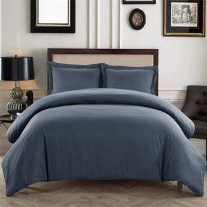 Hot-selling Bedding Sets 3 Pcs Bed Suit Solid Color Duvet Cover Pillowcase 2020 Designer Bedding Supplies