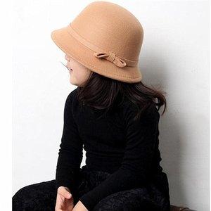 New Korean style parent-child woolen girl sweet Wool Wool princess basin hat adult Winter Children's hat male