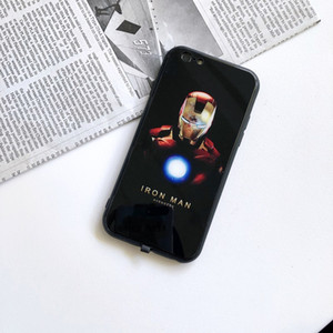 For iphone 7 8 7P 8P X XS Incoming Call Glowing Mobile Phone Case Smart Chip LED Light Anti-fall Cellphone Case Bat Grun