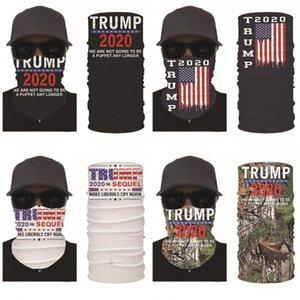 Перевозка груза DHL Donald Trump Face Mask Summer дышащий Многофункциональное Trump 2020 Головной убор Велоспорт шеи Gaiter Бесшовные Бандана DHD511