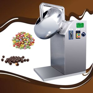 lewiao 2020 Máquina de revestimento Nut Chocolate Doce Chip automática Sugar Chocolate Doce Coating Machine220V